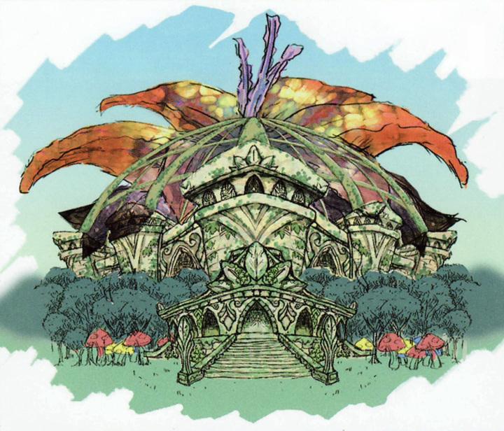 Le temple de la contemplation (Artwork - Concept Arts d'Hyrule - Skyward Sword)