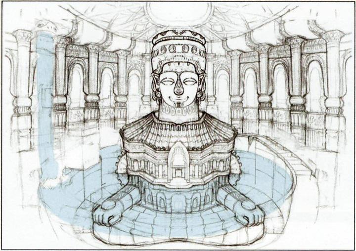 Grande caverne Antique (Artwork - Concept Arts d'Hyrule - Skyward Sword)