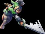 Link faisant une attaque verticale