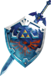 L'épée de légende et le bouclier d'Hylia