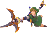 Link utilisant le grappin