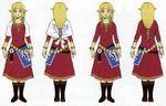 Zelda dans sa tenue de Célesbourg