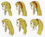 Différentes propositions de chevelure de Zelda