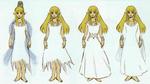Différentes proposition de la tenue de prêtresse d'Hylia de Zelda