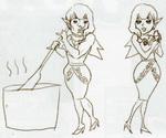 Concept art de Manda et Darin