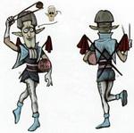 Concept art de personnage non utilisé