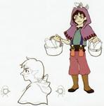Concept art d'un personnage non utilisé
