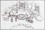 Concept art du Temple de la terre