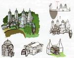 Le Temple du Sceau et ses alentours avec le circuit de la mégatapulte