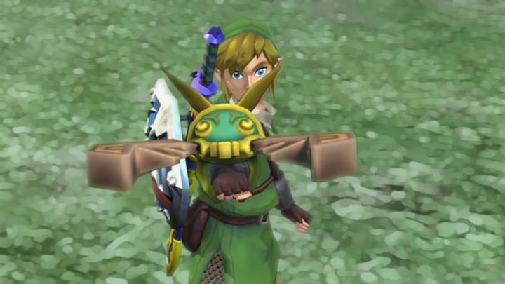 Link utilisant un scarabée (Screenshot - Screenshots issus de l'E3 2010- Skyward Sword)