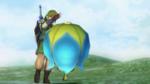 Link utilisant une bombe