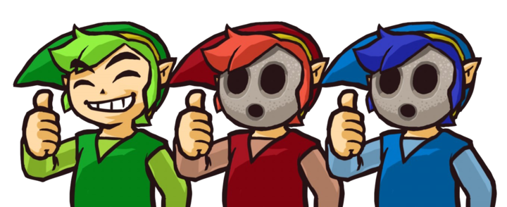 Artwork pour le mode local de Tri Force Heroes