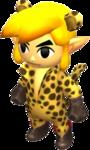 Tenue de Link dans Tri Force Heroes sur 3DS
