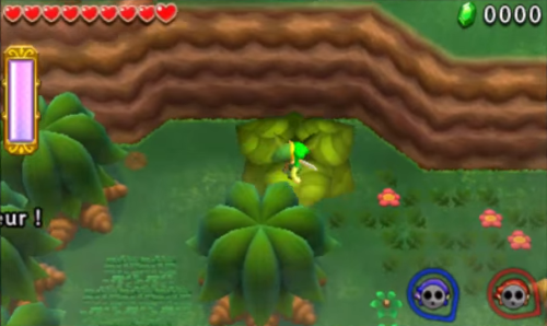 Screenshot de Tri Force Heroes : Niveau 1-3 -  Fort Moblin