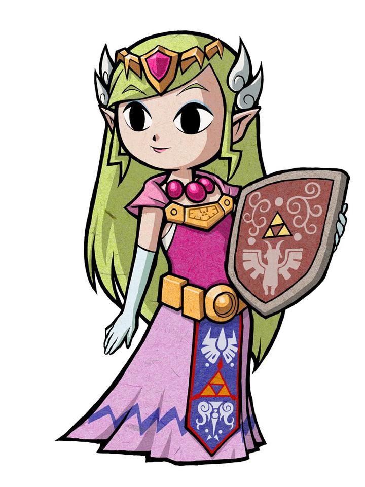 La Princesse Zelda (Artwork - Autres personnages - The Minish Cap)