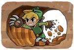 Link utilisant les Griffes de Taupe