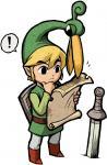 Link et Exelo lisant une carte