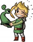 Exelo râlant auprès de Link