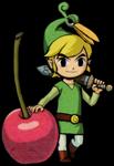 Link s'appuyant sur une cerise