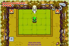 Link face au fantôme de Tesshin premier du nom (Screenshot - The Minish Cap)