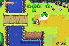 Un échange de Fragment du Bonheur (Screenshot - The Minish Cap)