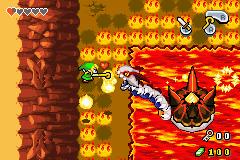 Combat contre Gleeok dans la Grotte de Feu (Screenshot - The Minish Cap)
