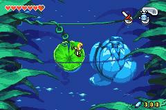 Link sur un nénuphar (Screenshot - The Minish Cap)