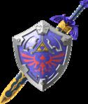 La Master Sword avec le Bouclier d'Hylia