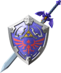 La Master Sword et le Bouclier d'Hylia