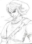 Ébauche de Link au regard sévère