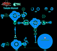 Plan de la zone Le Temple Abyssal