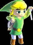 Link maniant la baguette