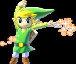 Link maniant la baguette du vent