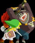 Artwork 3D de Link sur le Lion Rouge