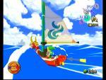 Link voguant sur le Lion Rouge