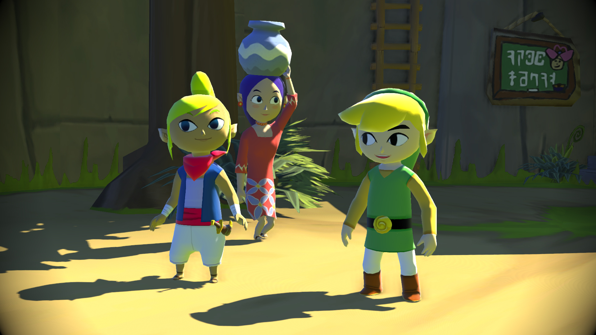 Premiers visuels de The Legend of Zelda : The Wind Waker HD sur WiiU