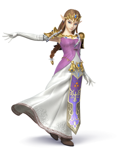 Artwork de Zelda dans Super Smash Bros Wii U / 3DS