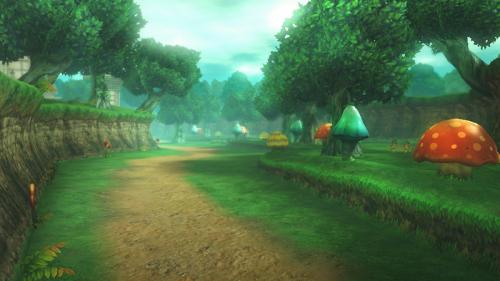 Screenshot de la forêt de Firone dans Hyrule Warriors