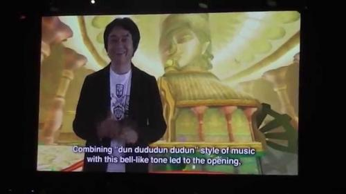 Miyamoto s'exprimant en vidéo