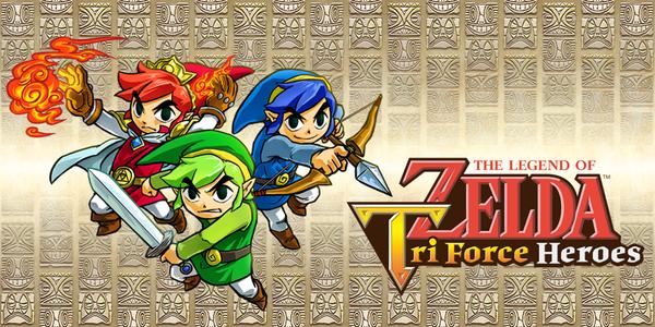 Personnages et logo de The Legend of Zelda : Tri Force Hereos