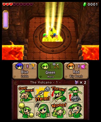 Capture d'écran de Tri Force Heroes : passage d'un portail