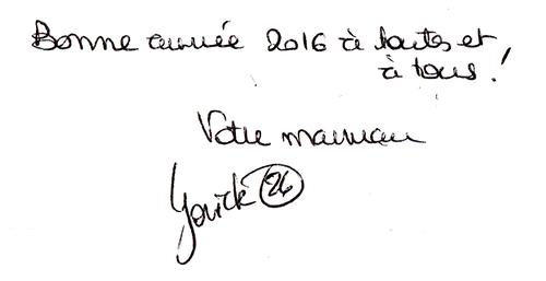 Petit mot manuscrit de Yorick