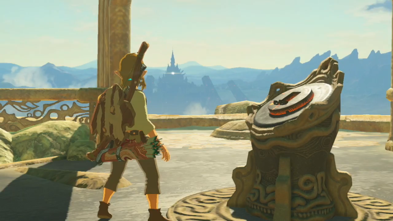 Link portant une tenue jaune dans The Legend of Zelda : Breath of the Wild