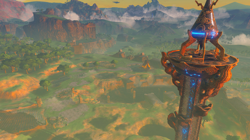 Screenshot de l'univers dans The Legend of Zelda : Breath of the Wild