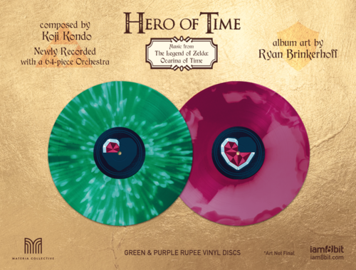 Vinyles illustrés Hero of Time