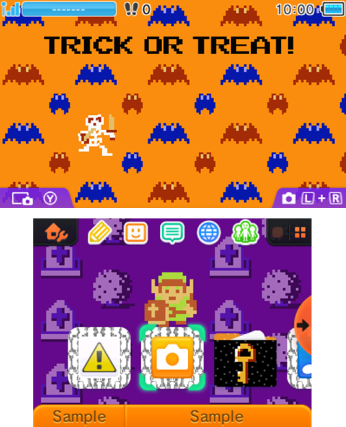 Image thème Halloween Zelda NES