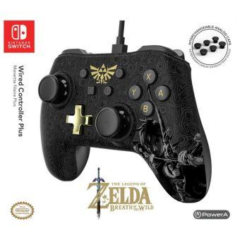 Manette filaire Power-A pour Nintendo Switch, aux couleurs de Breath of the Wild