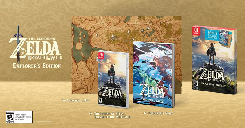 Bundle The Legend of Zelda: Breath of the Wild Explorer's Edition