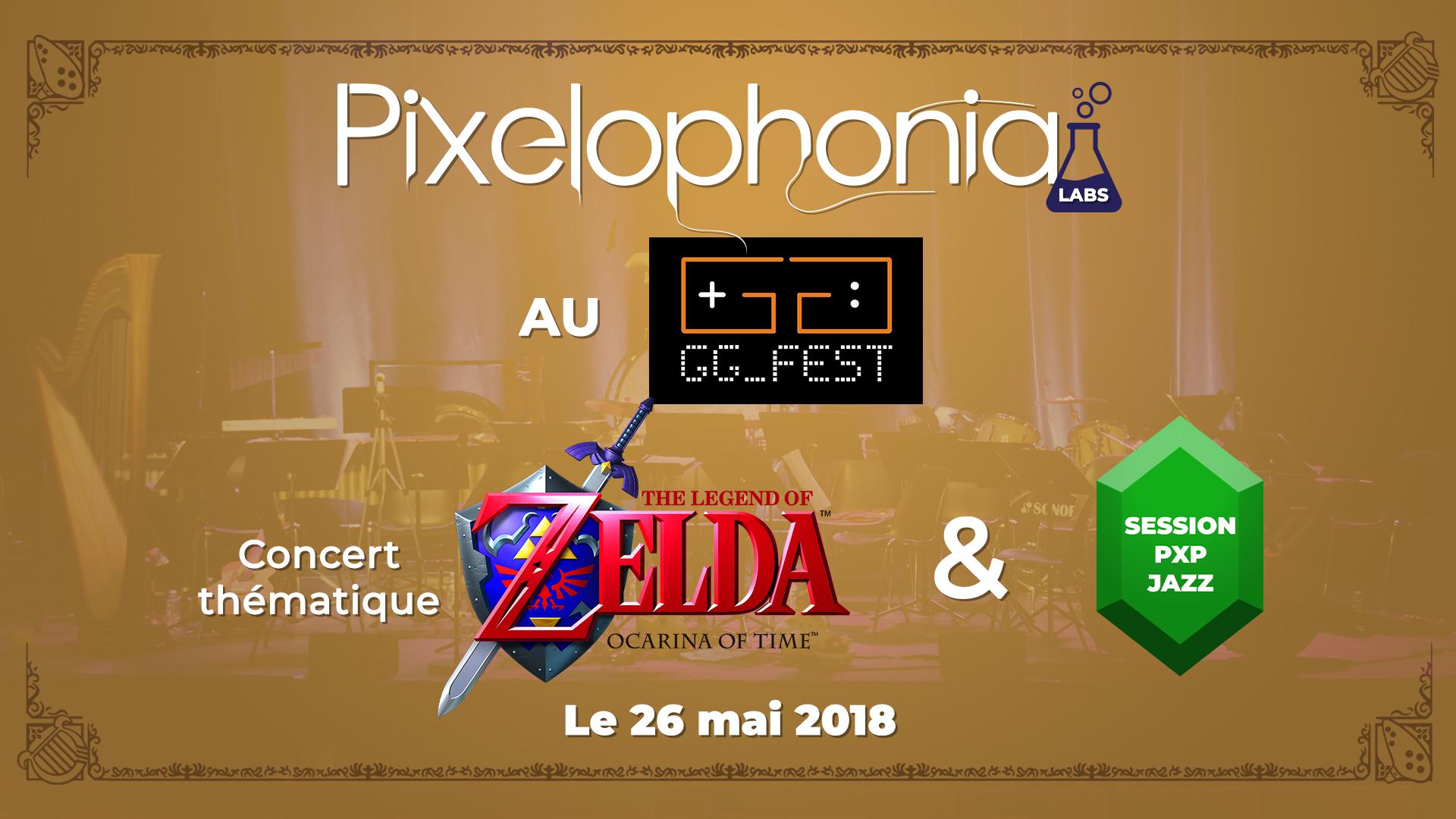 affiche concert zelda pixelophonia