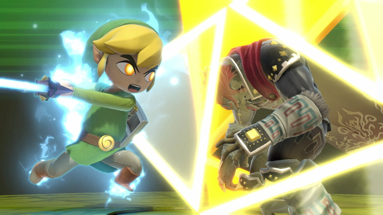 Link cartoon dans Super Smash Bros. Ultimate